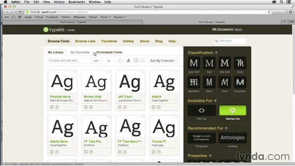 Using Typekit fonts: InDesign CC: EPUB Fundamentals