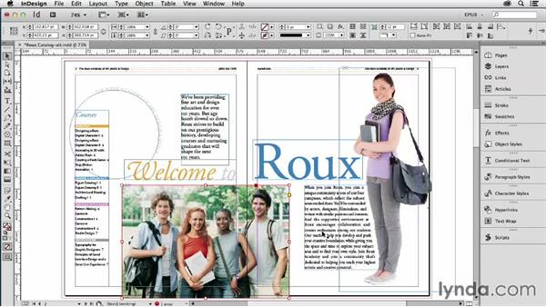 Adding alt tags to images and objects: InDesign CC: EPUB Fundamentals