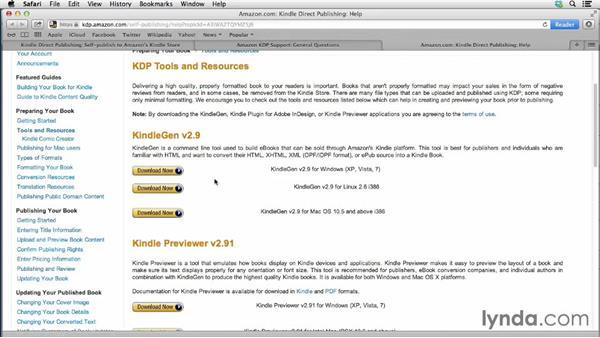 Exploring the Kindle Direct Publishing (KDP) portal: InDesign CC: EPUB Fundamentals