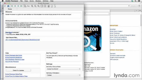 Converting with Kindle Previewer: InDesign CC: EPUB Fundamentals