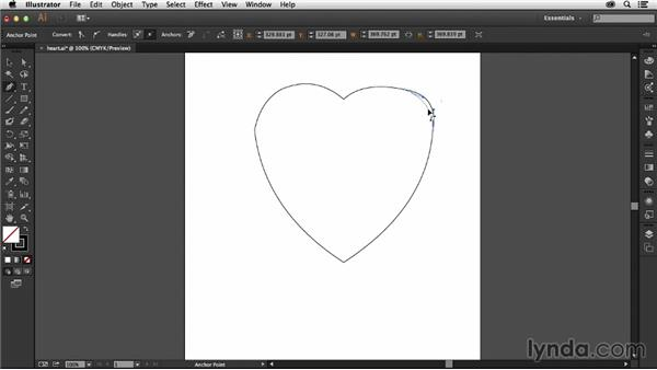 Reshaping paths with the Pen tool: Illustrator: 2013 Creative Cloud Updates