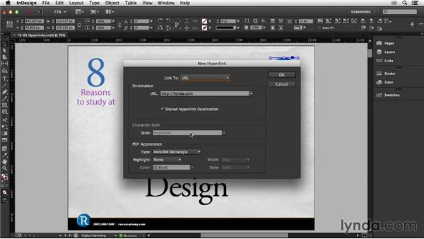 Working with hyperlinks: InDesign: 2013 Creative Cloud Updates