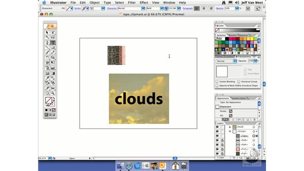 Clipping with Type: Illustrator CS2 Essential Training