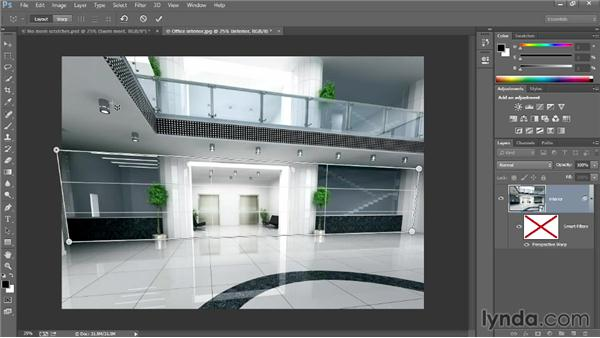 Using the Perspective Warp command: Photoshop: 2013 Creative Cloud Updates