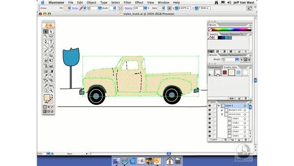 Merging Graphic Styles: Illustrator CS2 Essential Training