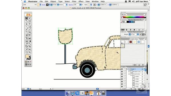 Editing Graphic Styles: Illustrator CS2 Essential Training
