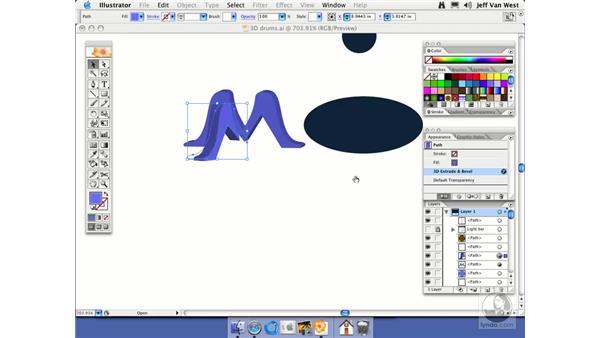 Extruding: Illustrator CS2 Essential Training