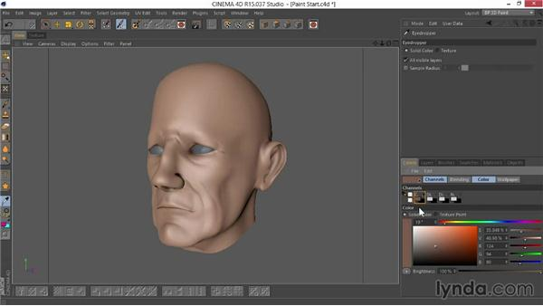 Getting everything in place to paint: Sculpting  and Painting a Head in CINEMA 4D