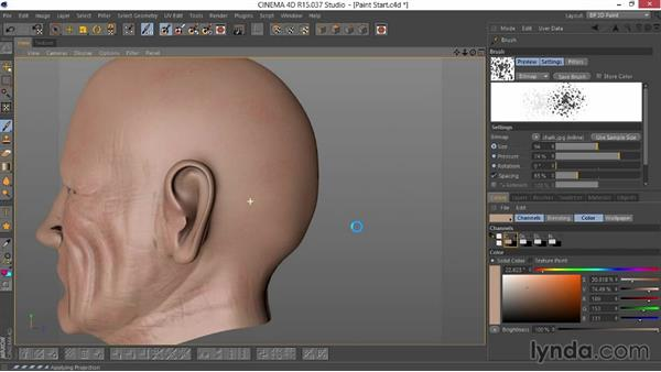 Painting a light skin layer: Sculpting  and Painting a Head in CINEMA 4D