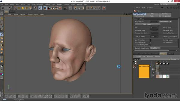 Blending the layers together: Sculpting  and Painting a Head in CINEMA 4D
