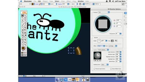 Partial Revolve: Illustrator CS2 Essential Training