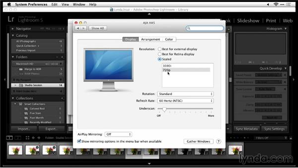 Connecting the camera to a monitor with an HDMI cable: Tethered Shooting Fundamentals (2014)