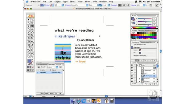 Dynamic Content: Illustrator CS2 Essential Training