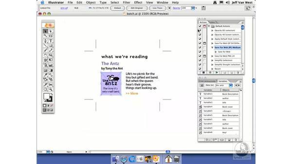 Batch Processing: Illustrator CS2 Essential Training