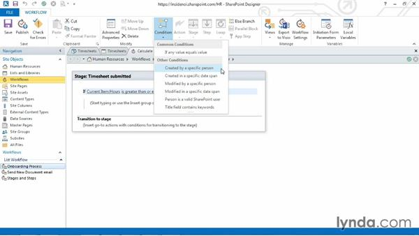 Using conditions to make a choice: SharePoint Designer 2013: Custom Workflows