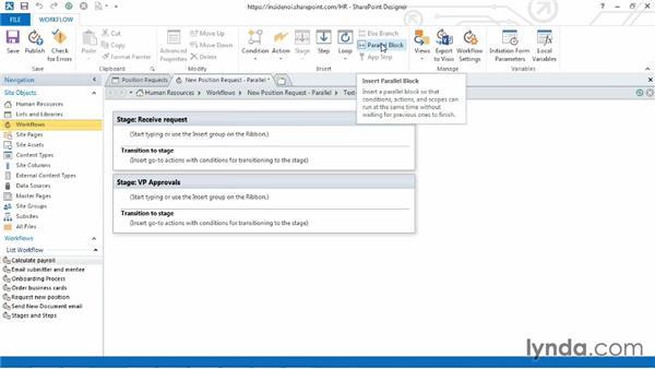 Using parallel blocks: SharePoint Designer 2013: Custom Workflows