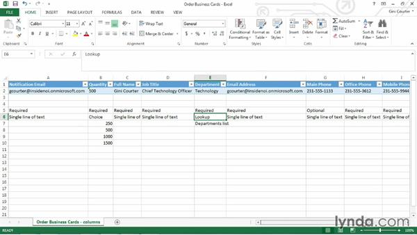 Overview: Order Business Cards workflow: SharePoint Designer 2013: Custom Workflows