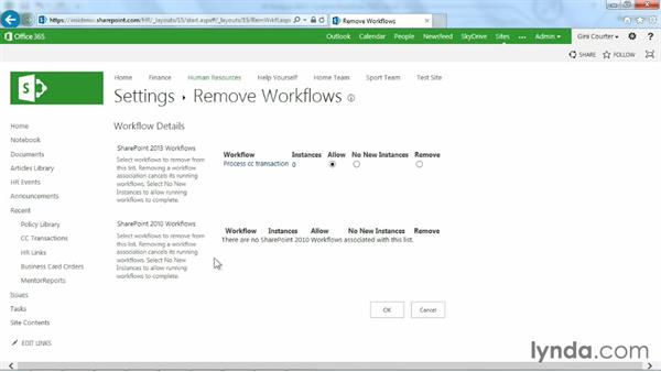 Managing workflows: Blocking, removing, and reinstating: SharePoint Designer 2013: Custom Workflows