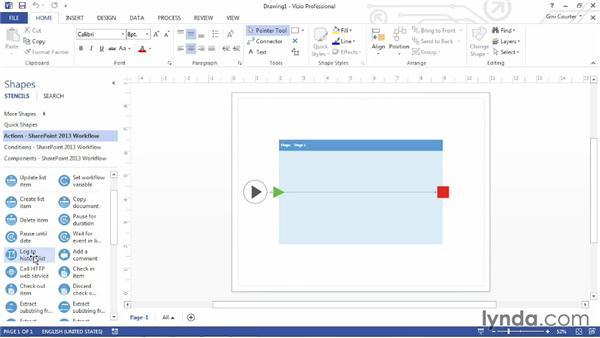 Creating a SharePoint workflow in Visio 2013: SharePoint Designer 2013: Custom Workflows