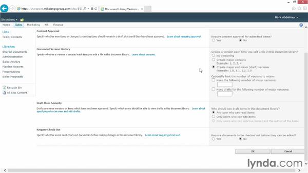 Enabling checkout and versioning in a document library: SharePoint 2010 for Site Champions and Power Users