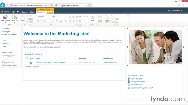 Editing an existing web page: SharePoint 2010 for Site Champions and Power Users