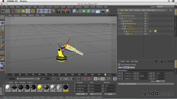 Understanding IK and forward kinematics: Mograph Techniques: Rigging a Robot Arm in CINEMA 4D