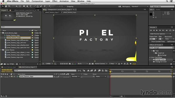 Importing the rendered project into After Effects: Mograph Techniques: Rigging a Robot Arm in CINEMA 4D