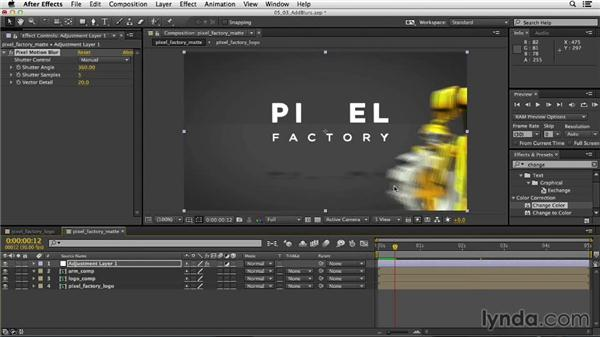 Adding depth of field and motion blur in After Effects: Mograph Techniques: Rigging a Robot Arm in CINEMA 4D