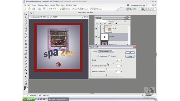 Warping Type: Photoshop Elements 3 Essential Training