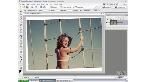 Crop and Rotate Features: Photoshop Elements 3 Essential Training
