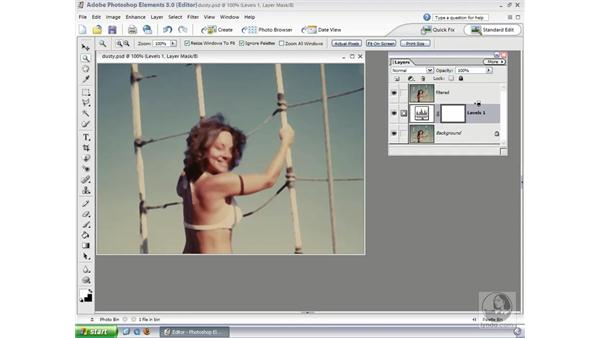 Dust and Scratches Filter: Photoshop Elements 3 Essential Training