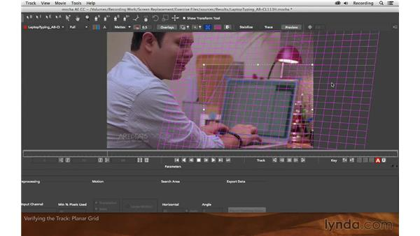 Verifying the track: Screen Replacement with After Effects and mocha AE