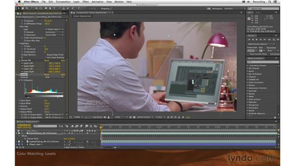Basic color matching: Screen Replacement with After Effects and mocha AE