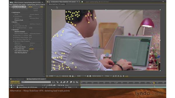 Reversible stabilization with Warp Stabilizer VFX: Screen Replacement with After Effects and mocha AE