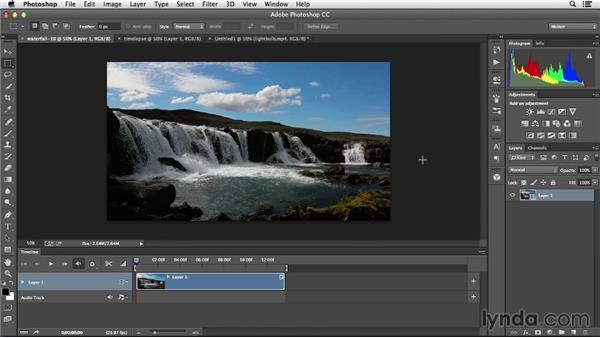 Working with video layers: Creative Video Compositing with Photoshop