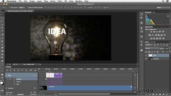 Applying movement and transformations with keyframes: Creative Video Compositing with Photoshop