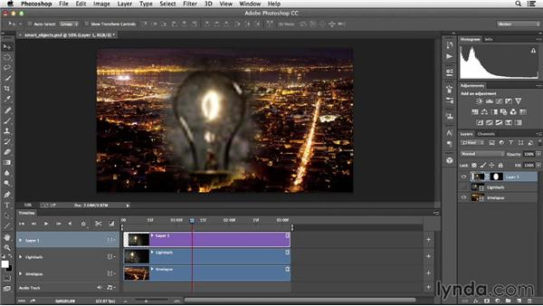 Using Smart Objects to perform nondestructive transformations: Creative Video Compositing with Photoshop