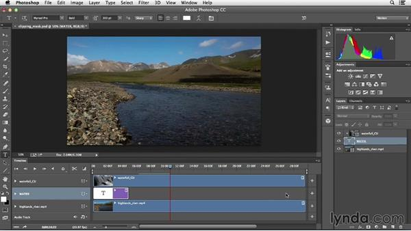 Using type to mask a video layer: Creative Video Compositing with Photoshop