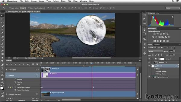 Animating layer effects: Creative Video Compositing with Photoshop