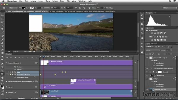 Copying animation keyframes to another layer: Creative Video Compositing with Photoshop