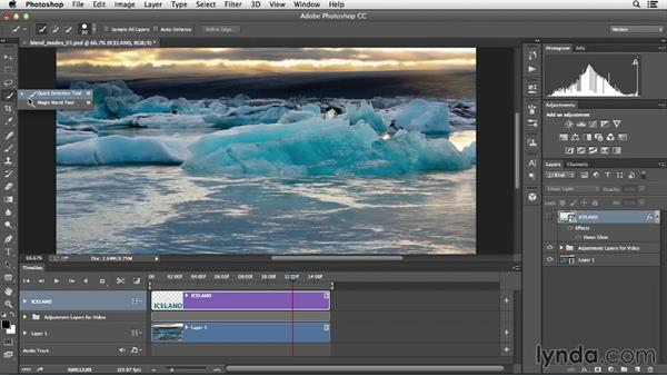 Styling graphics with blend modes and layer effects: Creative Video Compositing with Photoshop