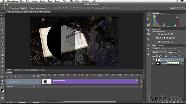 Compositing elements with blend modes: Creative Video Compositing with Photoshop
