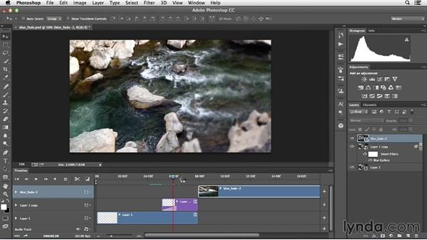 Creating custom transitions with filters: Creative Video Compositing with Photoshop