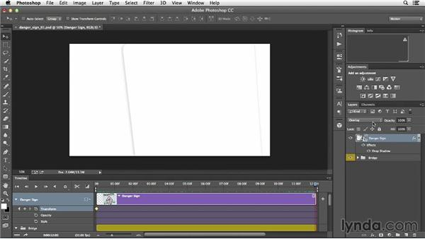 Animating the scale and rotation of a Smart Object: Creative Video Compositing with Photoshop