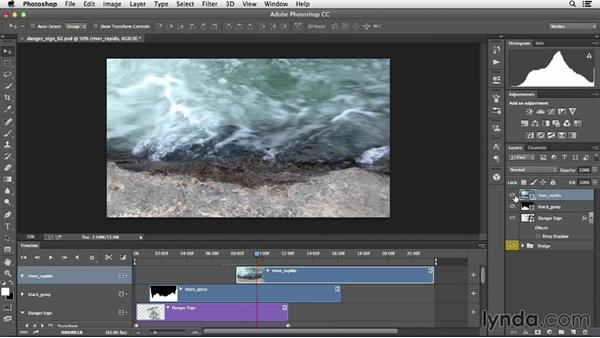 Using videos as masks for custom transitions: Creative Video Compositing with Photoshop