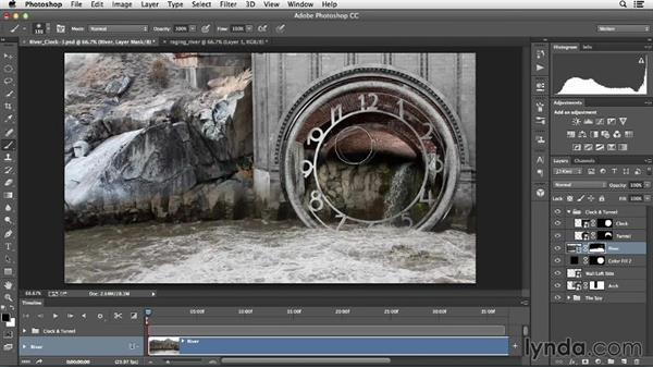 Bringing in a video layer and refining layer masks: Creative Video Compositing with Photoshop