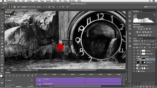 Matching color and brightness with adjustment layers: Creative Video Compositing with Photoshop