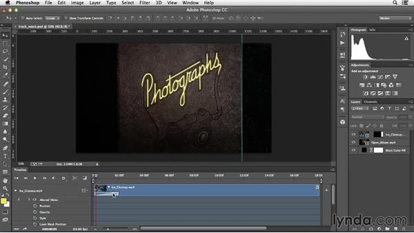 Keyframing a mask to track motion: Creative Video Compositing with Photoshop