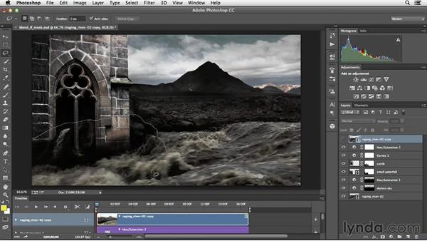 Using Blend If sliders for motion masks: Creative Video Compositing with Photoshop