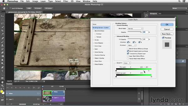 Understanding the limitations for color keying: Creative Video Compositing with Photoshop